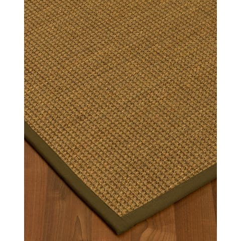 Hamptons Natural Seagrass Rug - Light Brown Binding, (3' x 5') - 3' x 5'