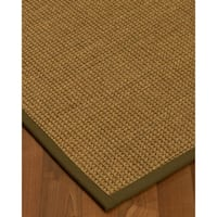 Handcrafted Hamptons Natural Seagrass Rug - Light Brown Binding, (3' x 5')