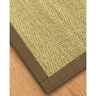 Handcrafted Formosa Natural Seagrass Rug - Taupe Binding, (4' x 6')