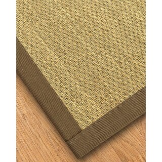 Handcrafted Messina Natural Seagrass Rug - Taupe Binding, (4' x 6')