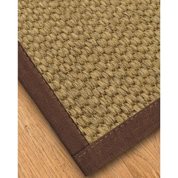 Handcrafted Preston Natural Sisal Rug - Brown Binding, (4' x 6') - 4' x 6'