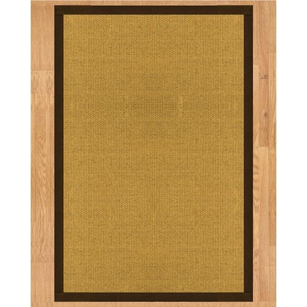 Handcrafted Prescott Natural Sisal Rug - Dark Brown Binding, (3' x 5')