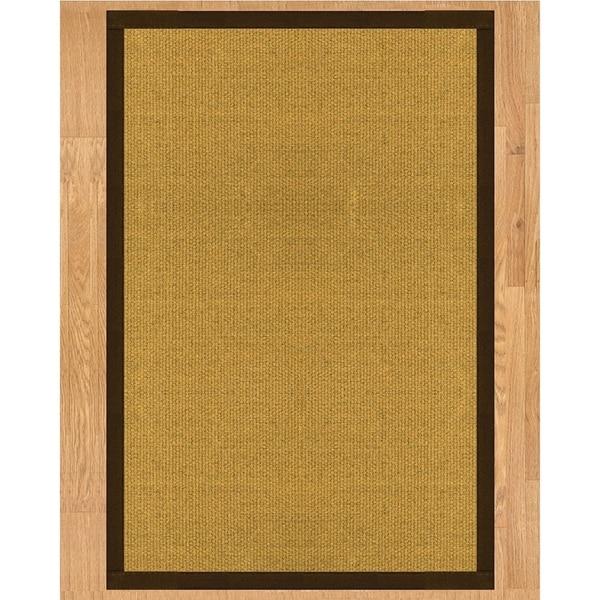 Handcrafted Prescott Natural Sisal Rug - Fudge Binding, (3' x 5') - beige
