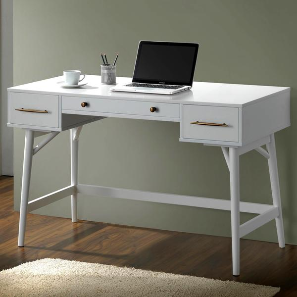Shop Mid-Century Modern Design White Home Office Writing