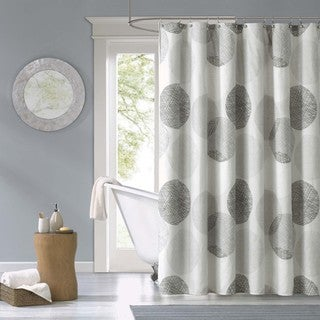 """Madison Park Essentials Glendale Printed Shower Curtain 72x72"""" in Grey(As Is Item)"""