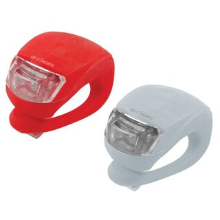Red & White Silicone Bike Lights