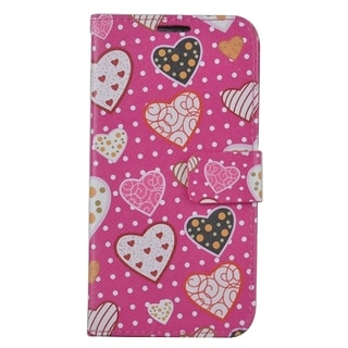 Samsung Galaxy S7/G930 PU Leather Image Pouch Lovely Hearts