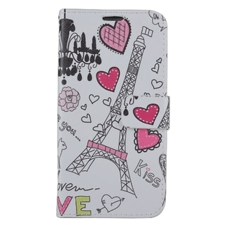 Samsung Galaxy S7/G930 PU Leather Image Pouch Heart Tower