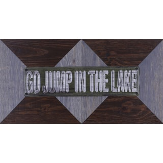 22.25-inch x 11.25-inch 'Go Jump in the Lake' Wood Wall Art