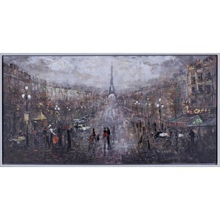 Hobbitholeco. 'Happy Paris' 26 x 50-inch Canvas Art