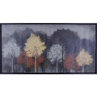 Hobbitholeco. 'Watercolor Trees' 26.5 x 50.5-inch Framed Wall Art