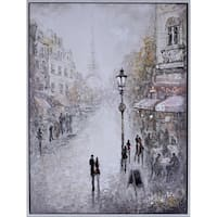Paris Lovers Canvas Art