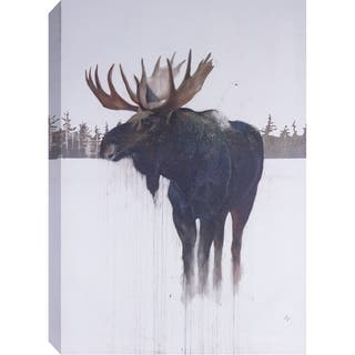ArtMaison Canada. 'Golden Moose' 32 x 48-inch Canvas Art