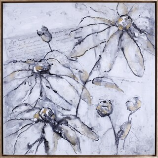 Hobbitholeco. Anastasia C. 'Elegant Flowers' 37.5 x 37.5 Framed Canvas Wall Artwork