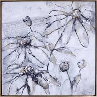 Hobbitholeco. Anastasia C. 'Elegant Flowers' 37.5 x 37.5 Framed Canvas Wall Artwork