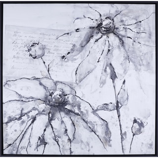 Hobbitholeco. Anastasia C. 'Elegant Flowers' 37.5 x 37.5 Framed Wall Art