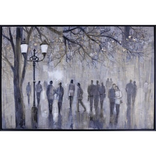 Anastasia C.'s 'Street Walk' 38.5X56.5 Canvas Art