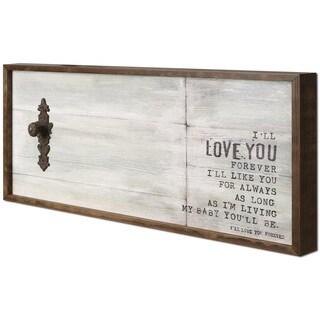Christina Lovisa's 'Love You' 19X38 Rustic Wooden Wall Art