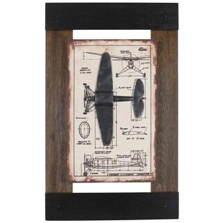 Hobbitholeco. 'Metal Plane I' Framed Art