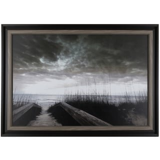 Hobbitholeco. P.T. Turk's 'Path To Lake' 28.25 x 40.25-inch Framed Wall Art