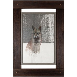 30.25-inch x 46-inch Fox Framed Art