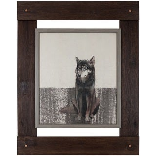 Daniel St.-Amant's 'Wolf' 31.25X40 Framed Wall Artwork