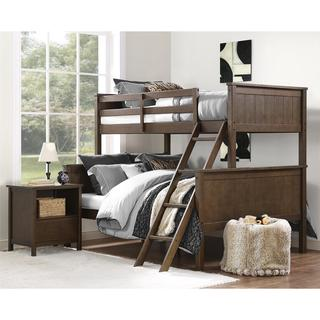 Avenue Greene Ivy Mocha Twin over Full Bunk Bed