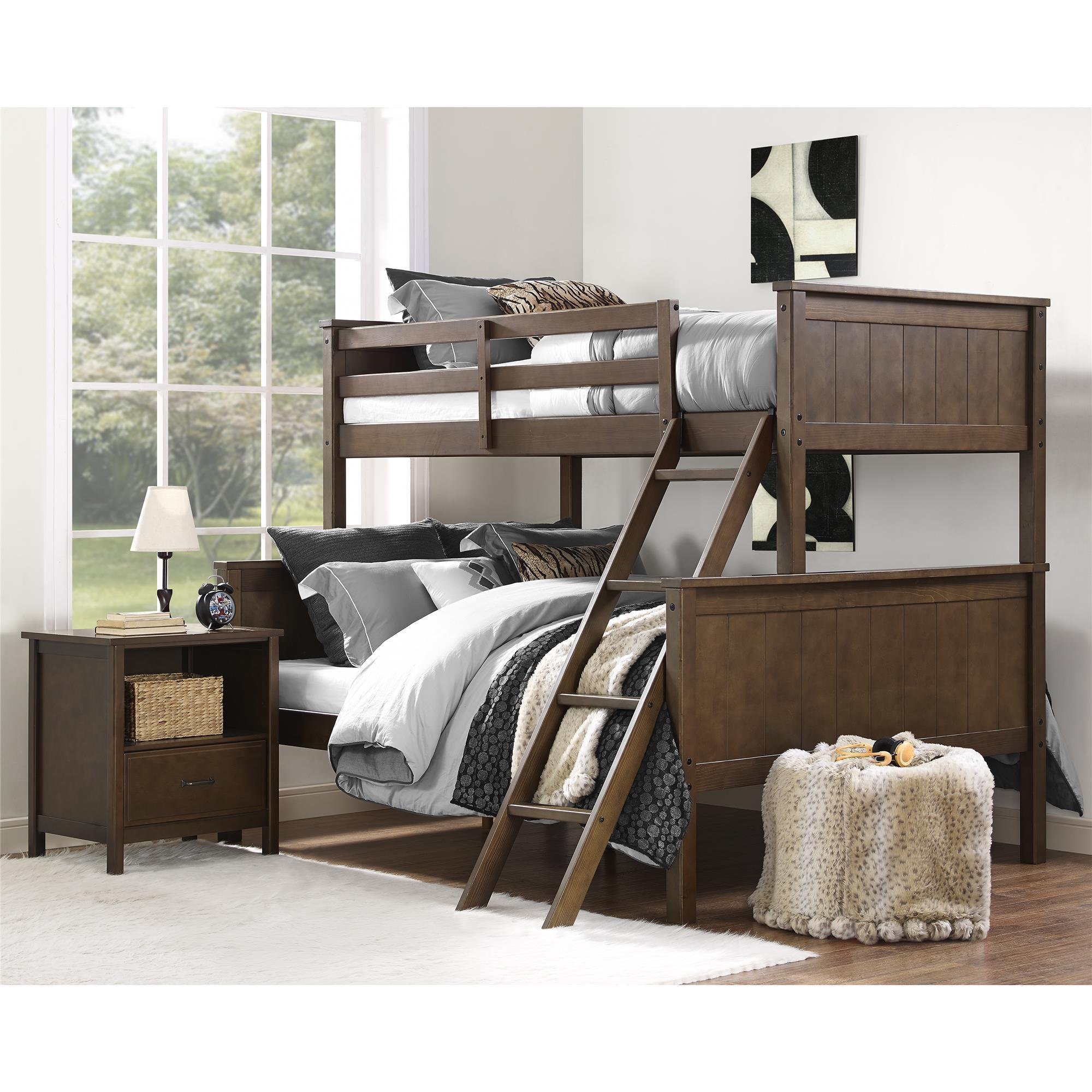 dorel Living Maxton Mocha Twin over Full Bunk Bed (Twin o...
