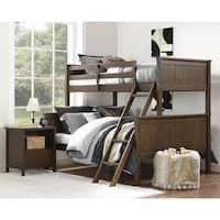 Clay Alder Home Mathews Mocha Twin over Full Bunk Bed
