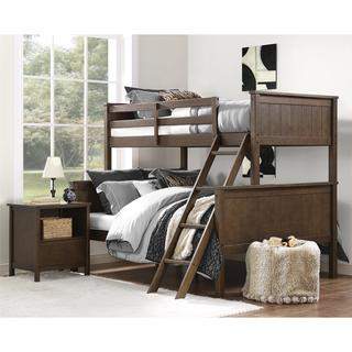 Dorel Living Maxton Mocha Twin over Full Bunk Bed