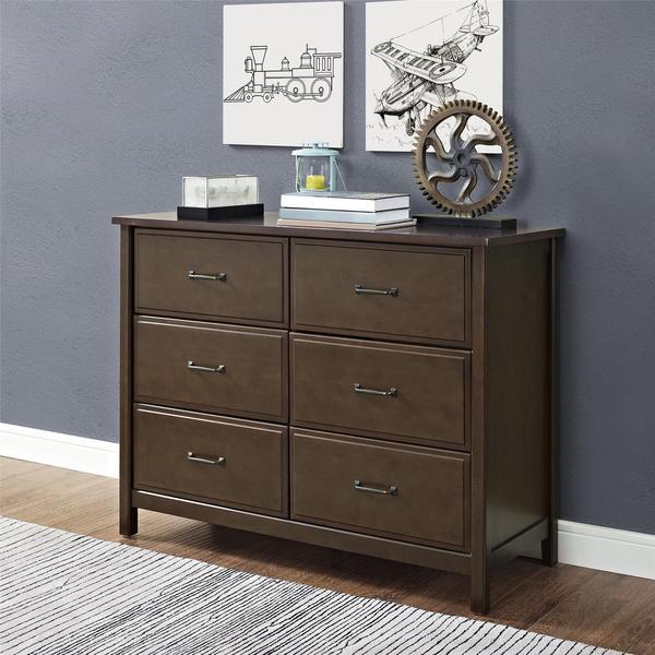 Dorel Living Maxton Mocha 6 Drawer Dresser Free Shipping