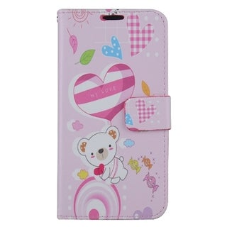 Samsung Galaxy S7 Edge/G935 PU Leather Image Pouch Bear ZD06