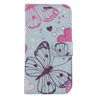 Samsung Galaxy S7 Edge/G935 PU Leather Image Pouch Butterflies ZD05