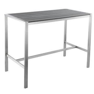 Cortesi Home Haven Collection Grey Outdoor Long Bar Table|https://ak1.ostkcdn.com/images/products/11818502/P18724756.jpg?impolicy=medium