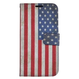 Samsung Galaxy S7 Edge PU Leather American Flag Wallet Case