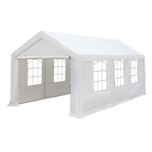 abba patio party canopy gazebo white 10feet x 20feet heavy duty waterproof - Carport Canopy