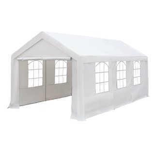 Abba Patio Party Canopy Gazebo White 10-feet x 20-feet Heavy Duty Waterproof Enclosed Carport
