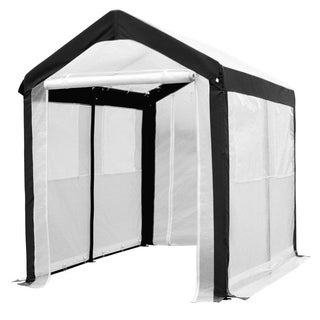 Abba Patio Fully Enclosed Walk-in Lawn & Garden Greenhouse with 4 Windows, 6 x 8 ft., White