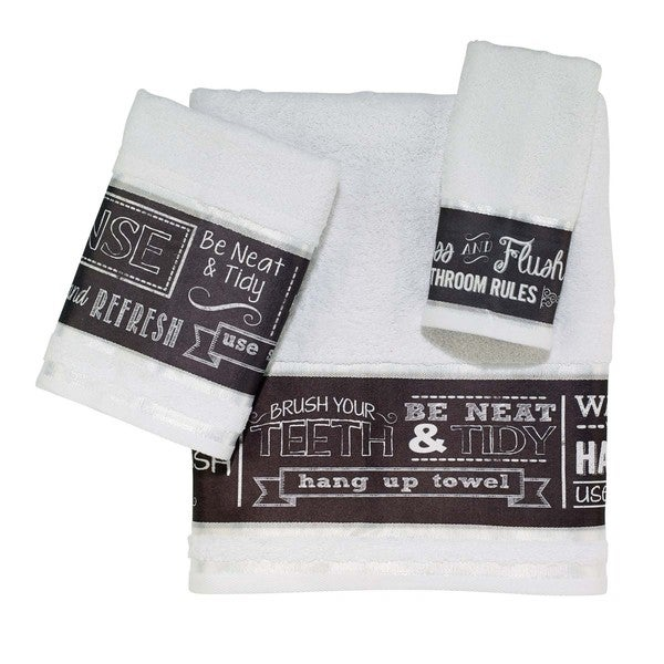 Chalk It Up 3-piece Towel Set