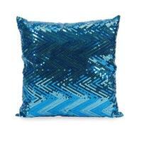Estradin Blue Sequin Chevron Throw Pillow