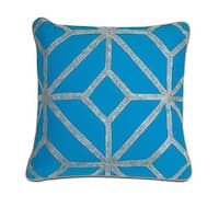Blue and Gray Diamond Throw Pillow