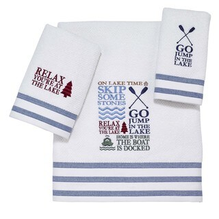 Lake Words 3-piece Towel Set