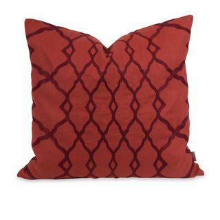 IK Dyani Embroidered Throw Pillow w/ Down Insert