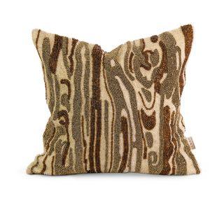 IK Lavitra Hand Beaded Throw Pillow w/ Down Fill