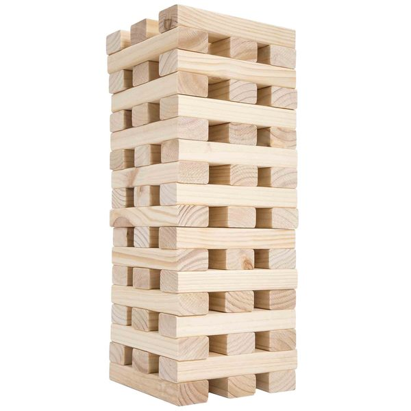 Nontraditional Giant Wooden Blocks Tower Stacking Outdoor Yard By Hey Play