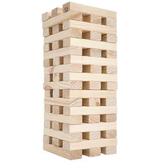 Nontraditional Giant Wooden Blocks Tower Stacking Game, Outdoor Yard Game by Hey! Play!