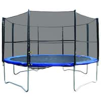 Super Jumper Black/Blue 14-foot Round Trampoline/Safety Net Combo