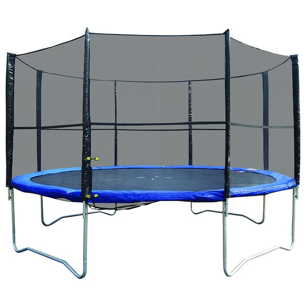 Super Jumper Black/Blue 14-foot Round Trampoline/Safety Net Combo