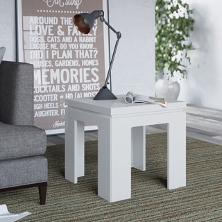 Manhattan Comfort Bridge 1.0 21-inch Square Length Modern Accent End Table