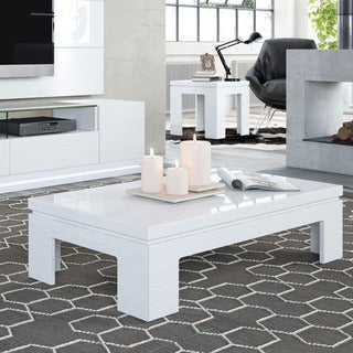 Manhattan Comfort Bridge 2-piece Accent Table Living Room Set
